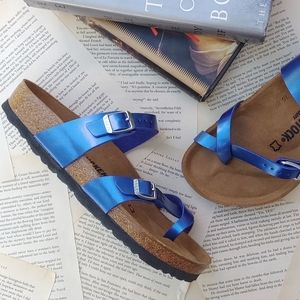 NWT BIRKENSTOCK Mayari Electric Metallic Sandals